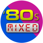 80s mixed logo